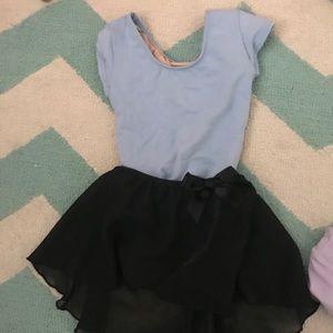 Toddler Girl Ballet Leptard and Skirt Bundle